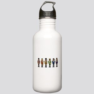 Nutcrackers in Rainbow Colors Water Bottle