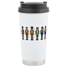 Nutcrackers in Rainbow Colors Travel Mug