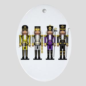 Nutcrackers in Non-Binary Colors Oval Ornament
