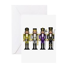 Nutcrackers in Non-Binary Colors Greeting Cards