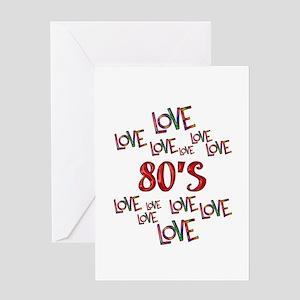 Love Love 80s Greeting Card