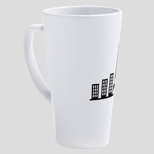 paris skyline 17 oz Latte Mug