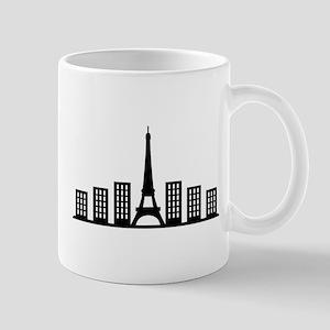 paris skyline Mugs