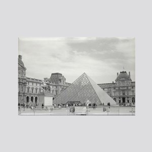 louvre Rectangle Magnet