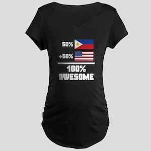 Awesome Filipino American Maternity T-Shirt