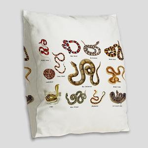 snakes Burlap Throw Pillow