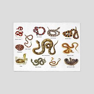 snakes 5'x7'Area Rug