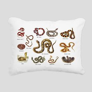 snakes Rectangular Canvas Pillow