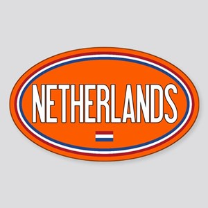 The Netherlands: Nederland Flag Ova Sticker (Oval)