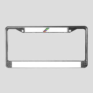 Highlighter Pens In Line License Plate Frame