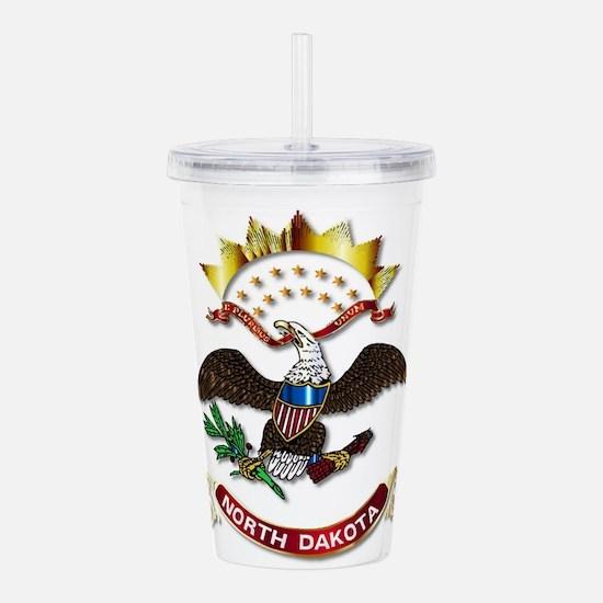 North Dakota Flag Icon Acrylic Double-wall Tumbler