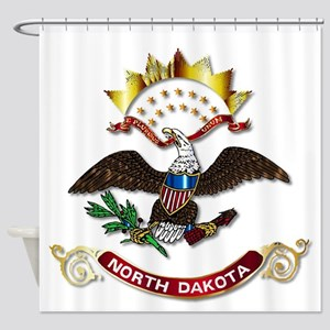 North Dakota Flag Icon Shower Curtain