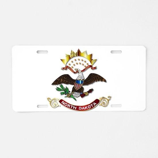 North Dakota Flag Icon Aluminum License Plate