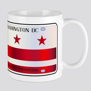 Washington DC License Plate Flag Mugs