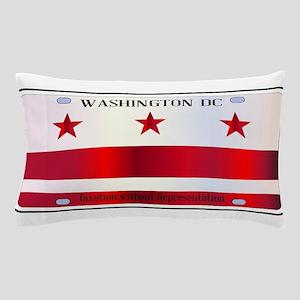 Washington DC License Plate Flag Pillow Case