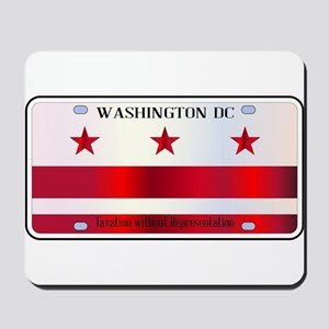 Washington DC License Plate Flag Mousepad