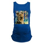 Airedale Painting Maternity Tank Top