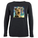 Airedale Painting Plus Size Long Sleeve Tee