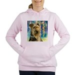 Airedale Painting Women's Hooded Sweatshirt