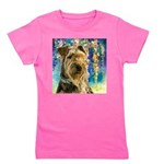 Airedale Painting Girl's Tee