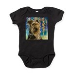 Airedale Painting Baby Bodysuit