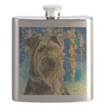 Airedale Painting Flask