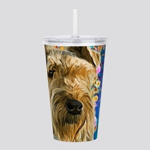 Airedale Painting Acrylic Double-wall Tumbler