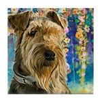 Airedale Painting Tile Coaster