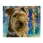Airedale Painting Throw Blanket