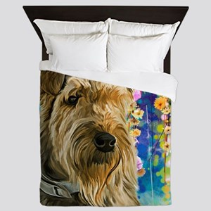 Airedale Painting Queen Duvet