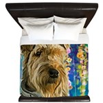 Airedale Painting King Duvet