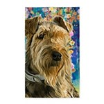 Airedale Painting Area Rug