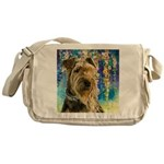 Airedale Painting Messenger Bag