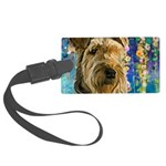Airedale Painting Luggage Tag