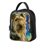 Airedale Painting Neoprene Lunch Bag