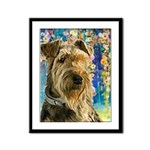 Airedale Painting Framed Panel Print
