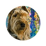Airedale Painting Button