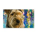 Airedale Painting Rectangle Car Magnet