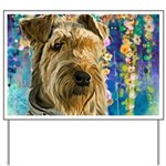 Airedale Painting Yard Sign