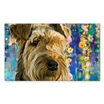 Airedale Painting Sticker