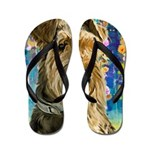 Airedale Painting Flip Flops