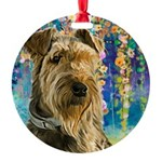 Airedale Painting Ornament