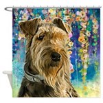 Airedale Painting Shower Curtain