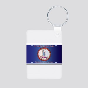 Virginia License Plate Flag Keychains