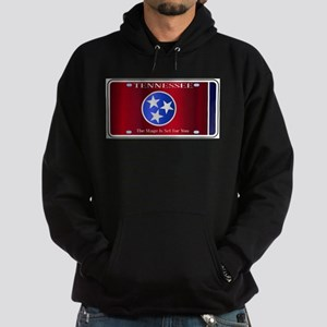 Tennessee State License Plate Flag Hoodie (dark)