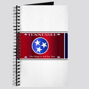 Tennessee State License Plate Flag Journal