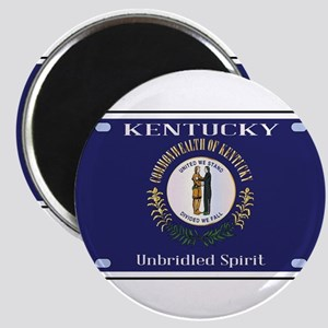 Kentucky State License Plate Flag Magnets