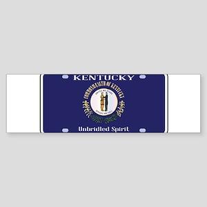 Kentucky State License Plate Flag Bumper Sticker