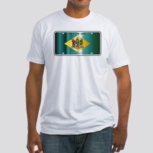 Delaware State License Plate Flag T-Shirt