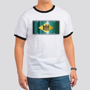 Delaware State License Plate Flag T-Shirt